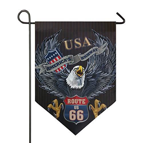SENNSEE Hausflagge Patriotische USA Adler Garten Flagge 30,5 x 45,7 cm doppelseitig dekorative Hofflagge für Zuhause Dekoration Outdoor, Polyester, Multi, 28x40