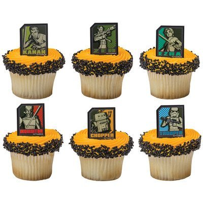 48 Star Wars Rebels Cupcake Rings with Matching Baking Cups by A Birthday Place