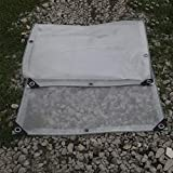 Lonas Lonas Semi-Transparentes Lona PE Lona Impermeable a Prueba de Viento Cobertizo para la Lluvia con Ojales Lona Aislante Cubierta de lámina de Sombra, 200 g/m² (Tamaño : 2x4M)