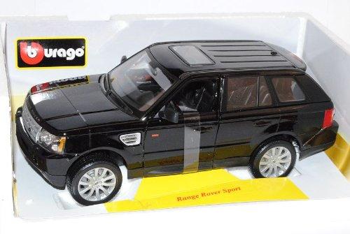 Bburago Range Rover Sport Schwarz Ab 2005 1/18 Modell Auto mit individiuellem Wunschkennzeichen