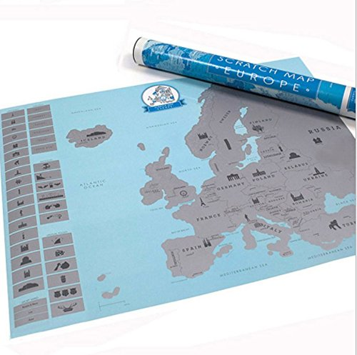 LifeUp- Mappa Dell'Europa Vintage Design Diario di Viaggio
