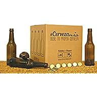Set Botellas y chapas para elaborar cerveza en casa BYC