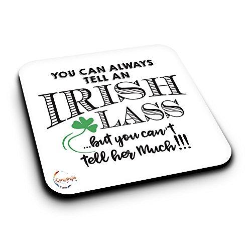 er281Sie können immer Ihr Sie ein Irish Lass aber kann nicht sagen, viel sagen Neuheit Geschenk bedruckt MDF Untersetzer aus Holz