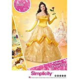 Simplicity 8406 Disney Beauty and the Beast Costume pour femme, papier, Blanc, 22 x...