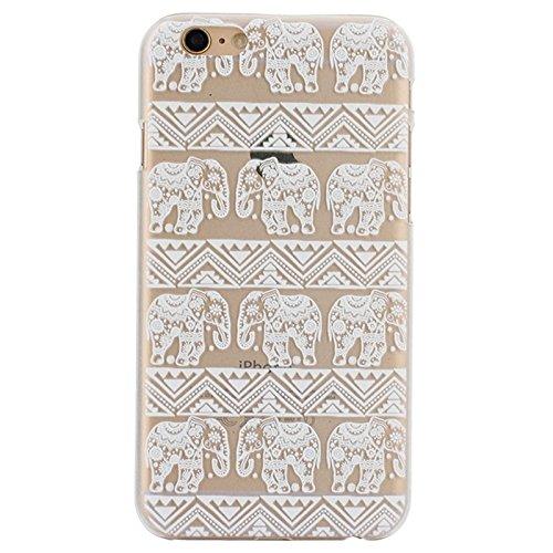 GHC Cases & Covers, Ultra-Thin geschnitzte Blumenmuster Transparente Rahmen PC Schutzhülle für iPhone 6 ( SKU : S-IP6G-0641F ) S-IP6G-0641B