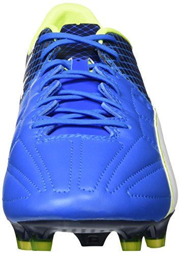 Puma Evospeed 1.5 Lth Fg, Chaussures de Football Compétition Homme Bleu - Blau (Electric Blue lemonade-puma white-peacoat 02)