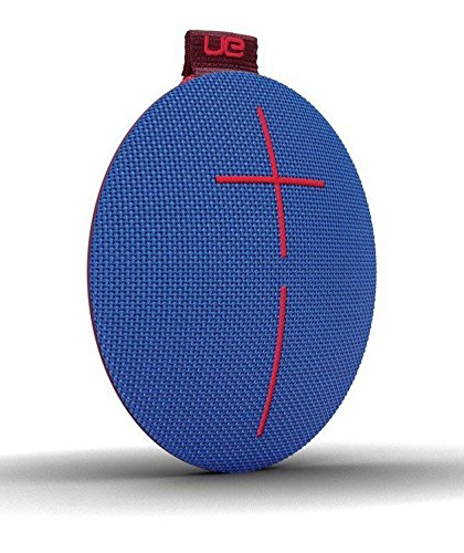 Ultimate Ears ROLL 2 Bluetooth Speaker Ultraportable with Floatie, Waterproof and Shockproof - Blue/Red