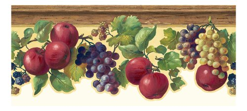 york-wallcoverings-kh7132b-kitchen-and-bath-fruit-and-ivy-border-butterscotch-red-purple-various-sha