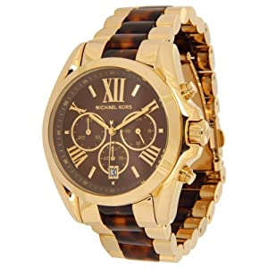 Michael Kors Ladies Gold Plated Chronograph Watch de Michael Kors
