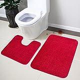Lushomes Ultra Soft Red Medium Bath Mat ...