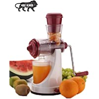 TIMESOON Hand Juicer for Fruits and Vegetables with Steel Handle Vacuum Locking System,Shake, Smoothies, Travel Juicer…