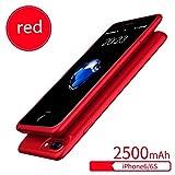 Apple Zurück Clip Mobile Power Iphone6 / 7 / 8Plus Universelle Rückenclip Batterie Ultradünne Handyschale Lade Schatz,Red