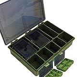 Matt Hayes Adventure komplett System (1+ 4) Tackle Box Storage Lösung–33x 5x 24cm–für Karpfen und Grob Angeln [19mh-22]