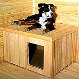 Hundehütte für Hundezwinger mit Pultdach 108 x 89 x 69