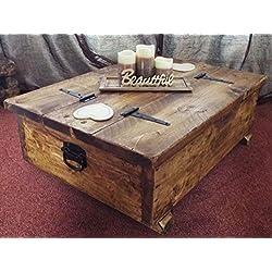 Mesa de Centro Rústica Baúl antiguo