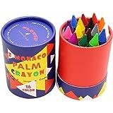 Lebze 16 Couleurs Peinture des Crayons pour Enfants, Sûrs et Non-Toxiques Crayons Maquillage pour Enfants (2 an et Plus) Flower Monaco