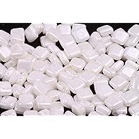 /Schwarz/ 20/ X 8/mm tschechische Fliesen Brick Glas quadratisch rechteckig Spacer Perlen/ /V014 PCS