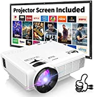 "DR. J Professional HI-04 1080P Supported 4500lumens 4Inch Mini Projector with 170"" Display - 40,000 Hours"