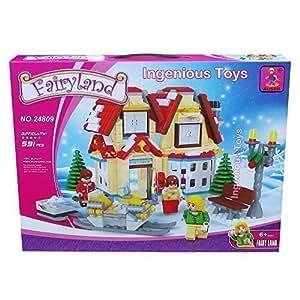 Ausini Winter Wonderland Toys Magasin & Moteur Traîneau City Creator NOUVEAU 591pcs #24809