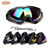 #3: Generic C3 : 5 Lens Colors Dust-proof Ski Sunglasses Cycling Hiking Outdoor Sports Goggles Skate Eyewear UV400 Bulletproof Skiing Glasses
