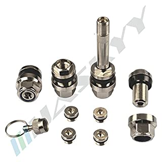Optivent versteckte Ventile 4 Stück silber/Metall 11,3 mm 9090