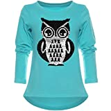 BEZLIT Kinder Mädchen Langarmshirt Wende-Pailletten Long Shirt Vogel Motiv 21719 Grün Größe 140