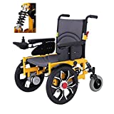 SISHUINIANHUA Electric Wheelchair, Folding Load 100Kg Mobile Intelligent Wheelchair Disabled Four- Wheeled Scooter