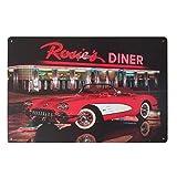 Retro Nostalgie Blechschild Metall Wandschild Kunst Deko für Café Bier Bar Küche (Rosie's Diner)