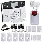 Yorbay Kit Alarme Maison sans Fil Téléphonique GSM avec capteur de Porte et Détecteur Mouvement (Modèle 2)