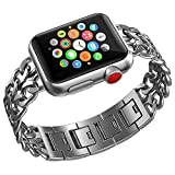 Evershop Für Apple Watch Armband 38 mm, Edelstahl Uhrenarmband Apple Watch Bands Handgelenk Band...