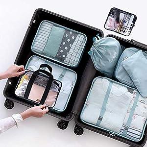 51 POGp7CLL. SS300  - Bolsas de Aseo Transparente, Opret 2 Pcs Neceser de Viaje Avión Impermeable PVC Cosmético Organizador para Hombre y…