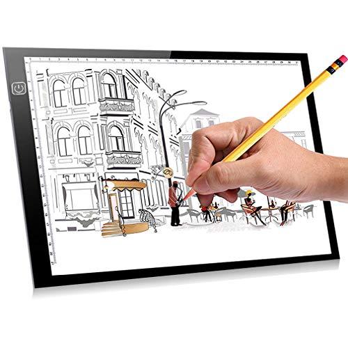 A4 Leuchttisch Zeichnung Professional Lightbox mit drei einstellbare Helligkeit Lightpad für Tattoo Sketch Architektur Kalligraphie Handwerk für Künstler, Zeichnung, Skizzieren mit ()