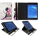 Sunstech Tab106OCBT Tablet 10.1 Pulgadas Niña de Flores Mariposa Universal 360 Grados de Rotación Cuero PU Funda Carcasa Case Cover de Sweet Tech