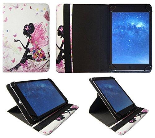 Denver TAD-10063 / TAD-10072 / TAQ-10122 / TAQ-10133 / TAQ-10153 10.1 Zoll Tablet Blumen Schmetterling Mädchen Universal 360 Grad Drehung PU Leder Tasche Schutzhülle Case von Sweet Tech