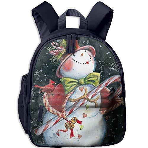 Cutebag Celebrate New Year Snowman Merry Christmas Girls / Boys Backpack Kids Bag Childeren School Rucksack