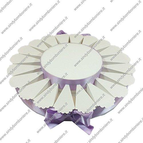 Struttura torta bomboniera 20 fette monocolore portaconfetti fai da te confezione (1)