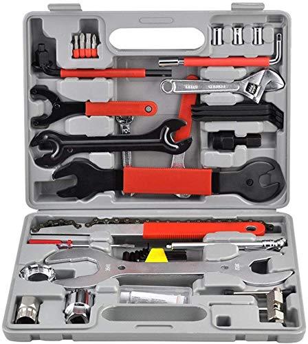 Froadp 44 Teilig Fahrrad Werkzeugkoffer Universal Radsport Flickzeug Tragbare Multifunktions Reparaturmaterial Werkzeug Praktischen Fahrradreparatur für zu Hause oder unterwegs