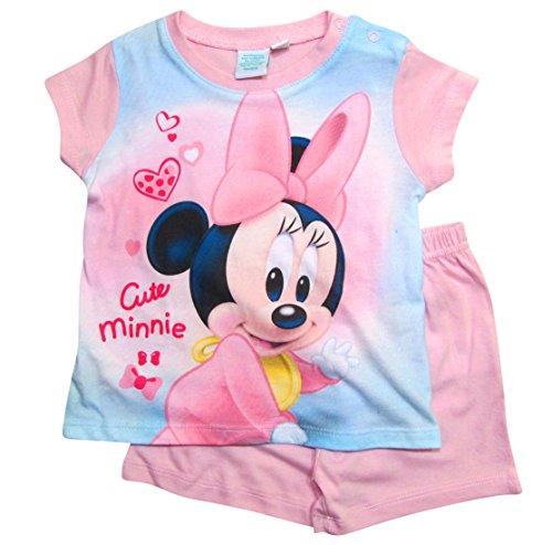 Minnie Mouse Kollektion 2018 Schlafanzug 68 74 80 86 92 Mädchen Shorty Pyjama Shortie Disney Maus (Zartrosa, 74) (Pyjama Disney Mädchen)