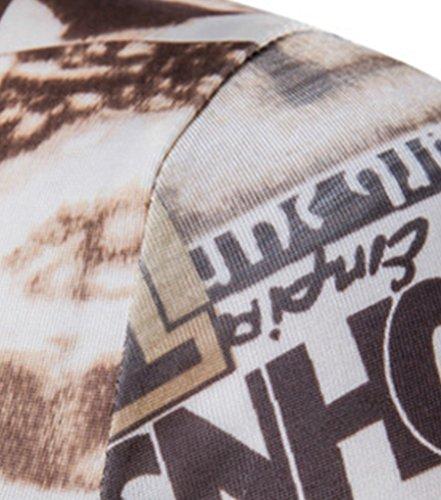 CHENGYANG Herren Sommer Casual Drucken Tees Kurzarm Slim Fit Vintage Style T-shirts Gelb