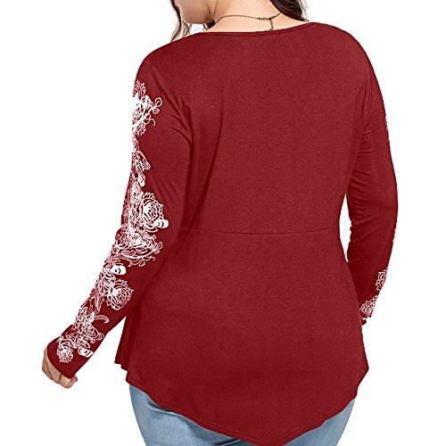 Sepbear Top à manches longues - Femme X-Large rouge vin