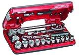 USAG 609 1/2 EB U06090022 Assortimento in Cassetta Bimateriale con Bussole Esagonali (21 pezzi)