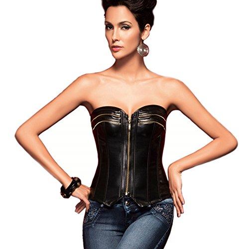 Corsetto esterna finta pelle che riduce e modella la figura per le donne, le ragazze e le signore Viola