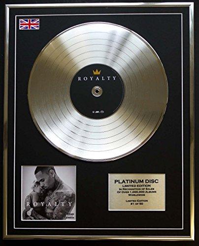 CHRIS BROWN/Limitierte Edition Platin Schallplatte/ROYALTY