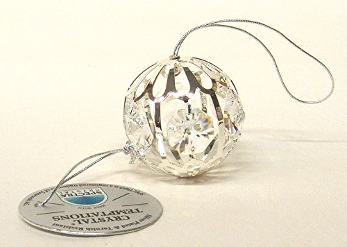 3000sfera 40mm Silver Ball Swarovski Crystal Components cristallo al piombo vera argentato