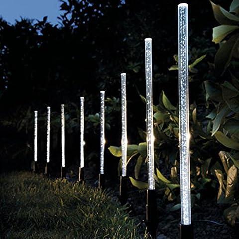 Acrylique Solar Power Bubble Blanc LED Light Garden Lawn Paysage Lampe dŽcorative