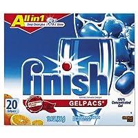 Reckitt Benckiser 76491 Dish Detergent Gel Packs& Orange& 20-Box