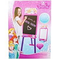 Lavagna Grande Con Cavalletto Disegno Bambina Double Face Disney Princess