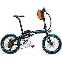 Portable d'élite de QF600 240W 48V 12Ah de 20 pouces se pliant le vélo d'E, bicyclette électrique de cadre d'alliage d'aluminium, deux freins de disque