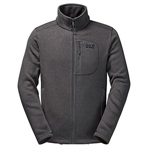 Jack Wolfskin Caribou Herren Fleece Track Jacket M Medium Dark Steel