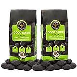 Grill Republic Coco Brixx Grill-Briketts | Cocos-Kohle für den Kugel- und Standgrill | Nachhaltig, Hoher Heizwert und 3x längere Brenndauer | 2x8,5kg